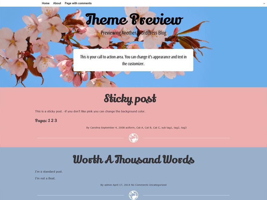 Cherish free wordpress theme