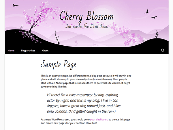 Cherry Blossom free wordpress theme
