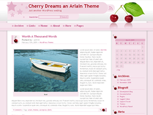 Cherry Dreams free wordpress theme