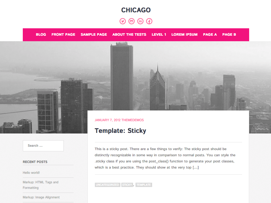 Chicago wordpress theme