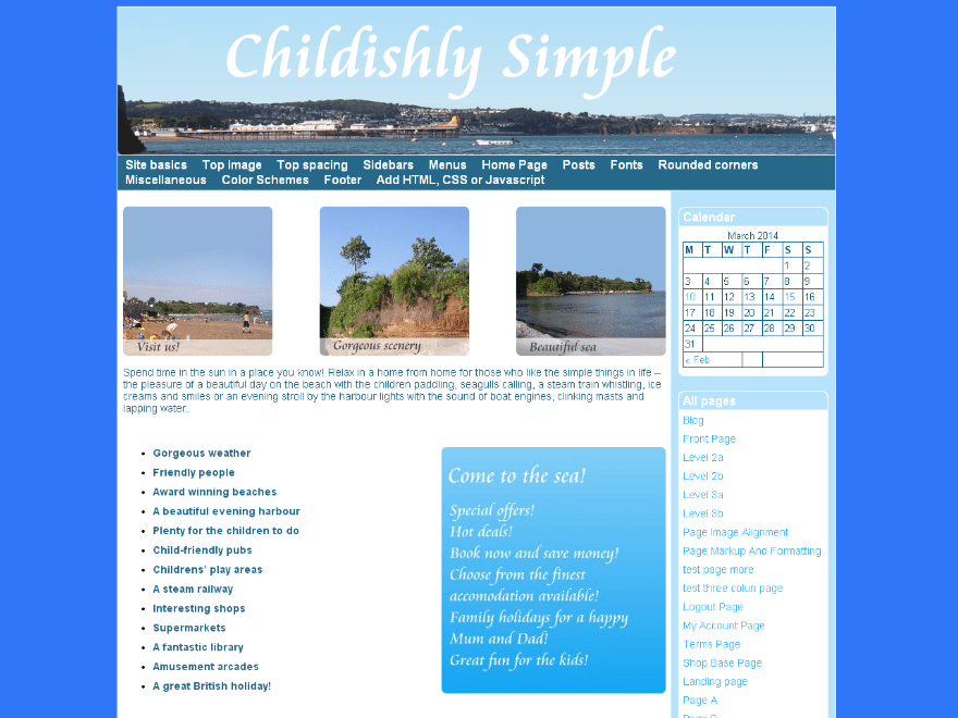 Childishly Simple theme wordpress gratuit