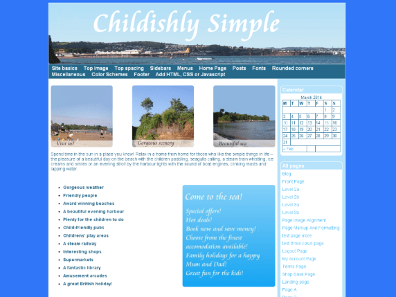 Childishly Simple wordpress theme
