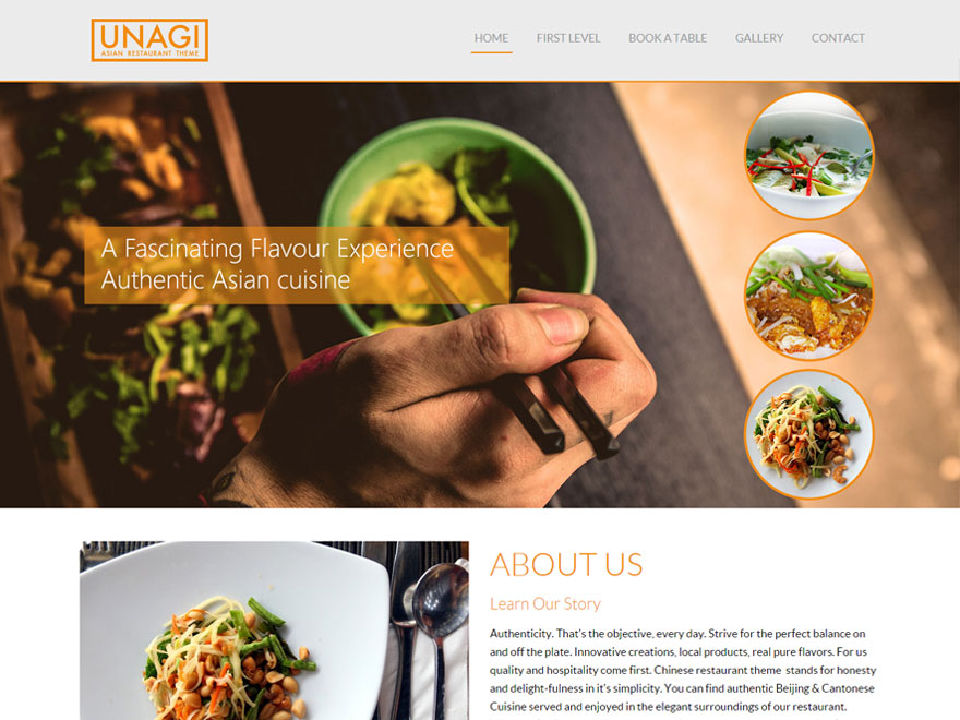 Chinese Restaurant free wordpress theme