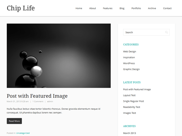 Chip Life free wordpress theme