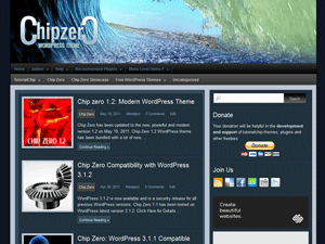 Chip Zero free wordpress theme