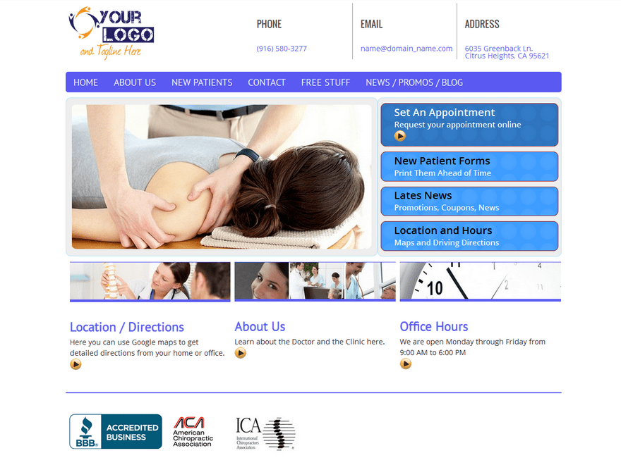 Chiro Pro free wordpress theme