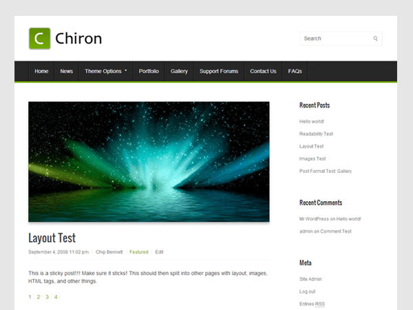 Chiron free wordpress theme