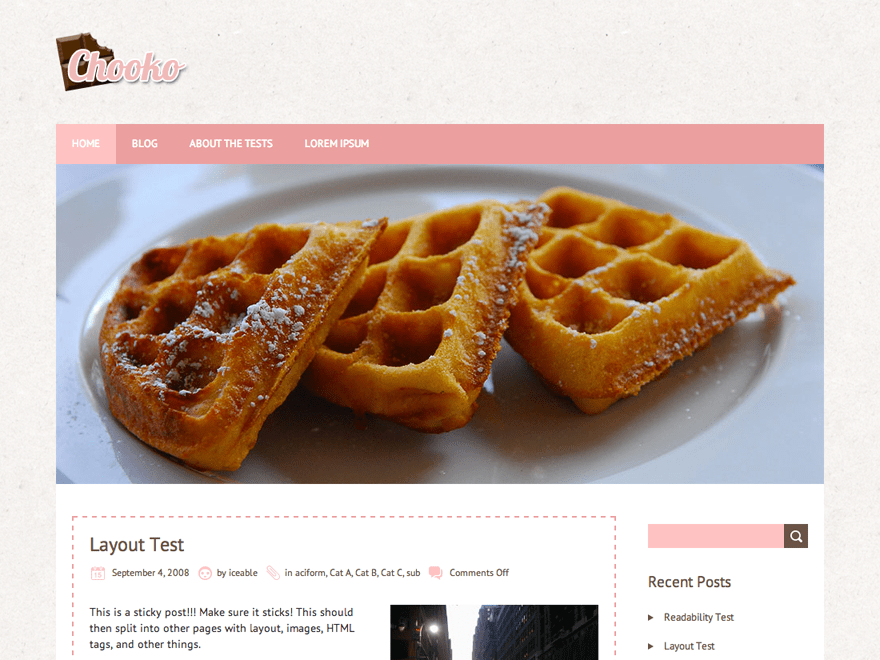 Chooko Lite wordpress theme