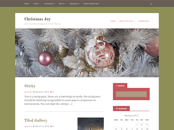 Christmas Joy free wordpress theme
