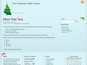 Christmas Waltz free wordpress theme