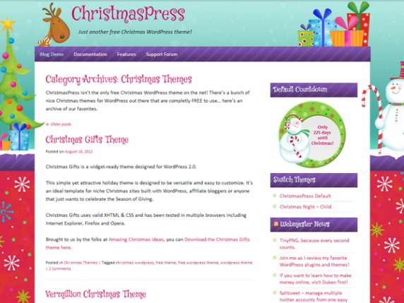 ChristmasPress wordpress theme