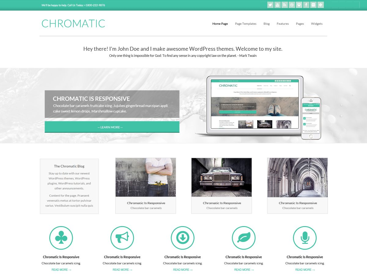 Chromatic free wordpress theme