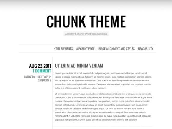 Chunk wordpress theme
