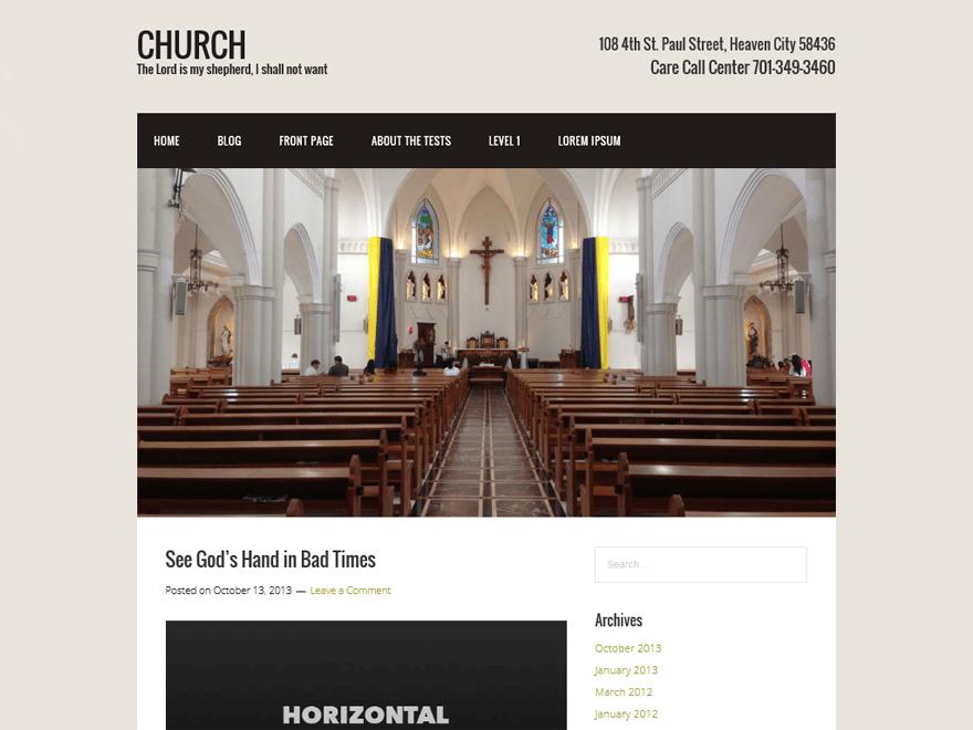Church free wordpress theme