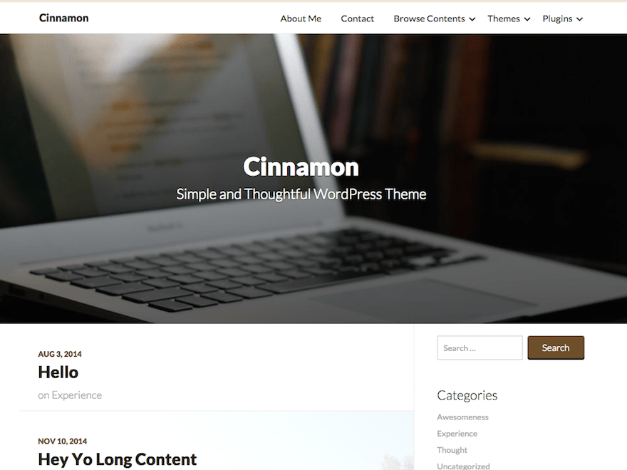 Cinnamon free wordpress theme