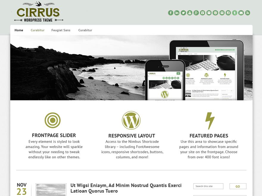 Cirrus theme wordpress gratuit