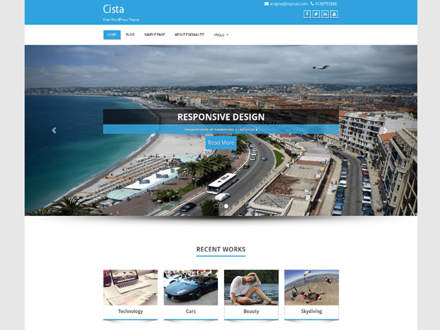 cista free wordpress theme