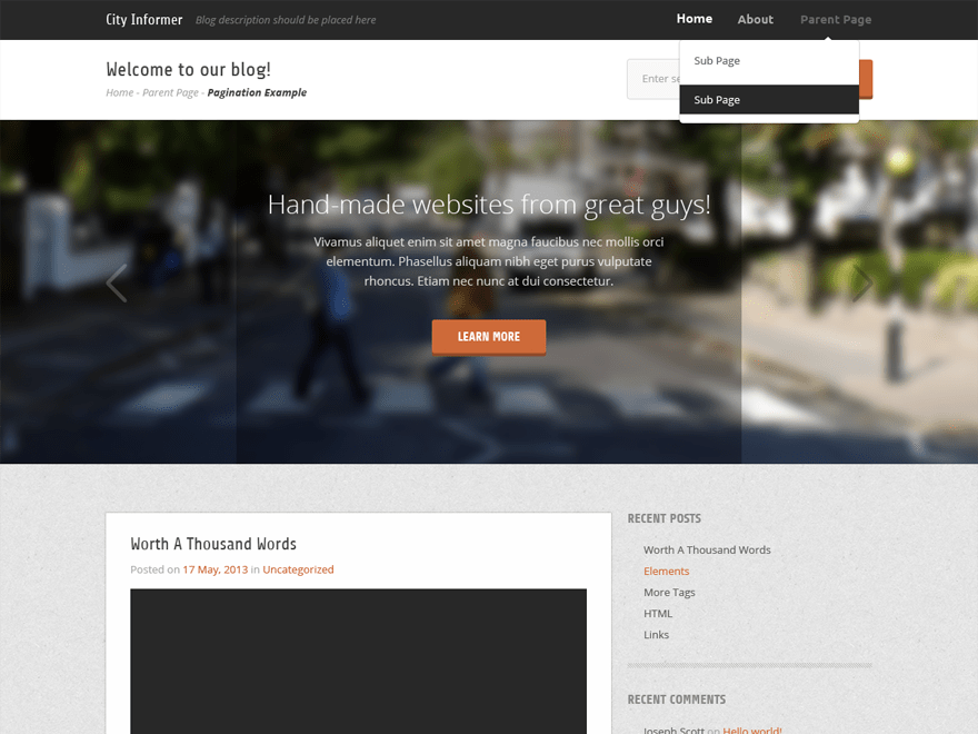 City Informer free wordpress theme