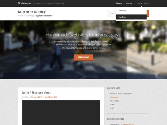 City Informer wordpress theme