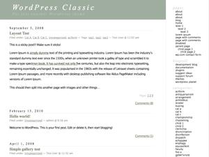 Classic free wordpress theme