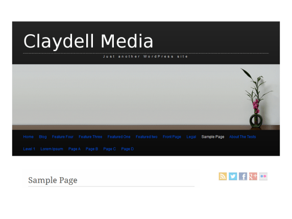 Claydell Media wordpress theme