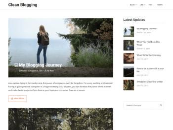 Clean Blogging child theme