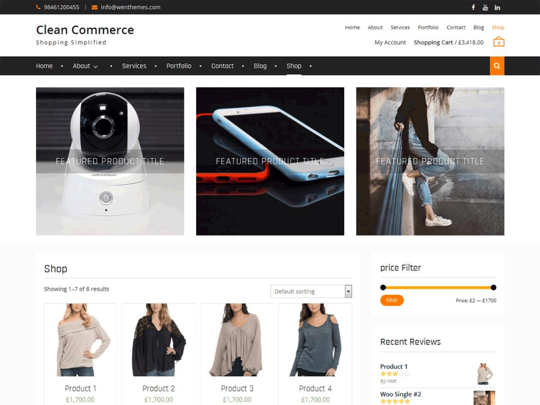 Clean Commerce Wordpress Org