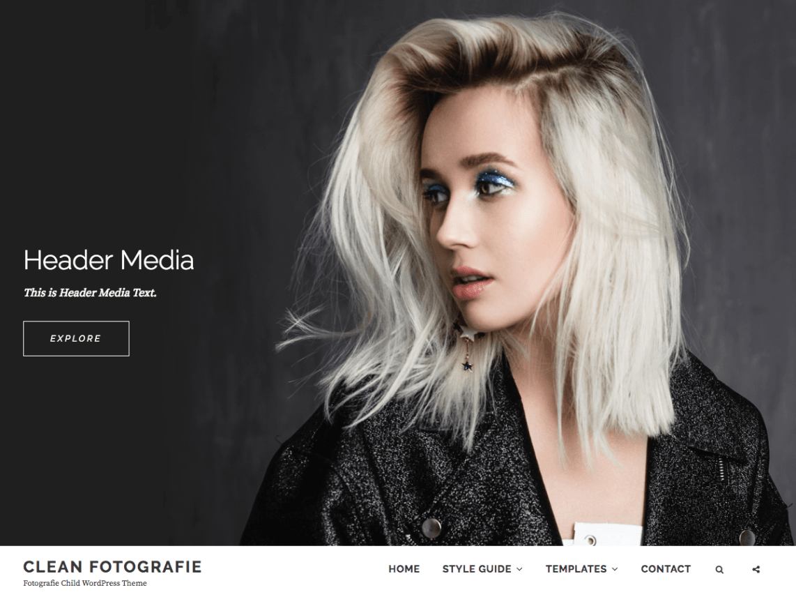 Clean Fotografie Theme Free Download