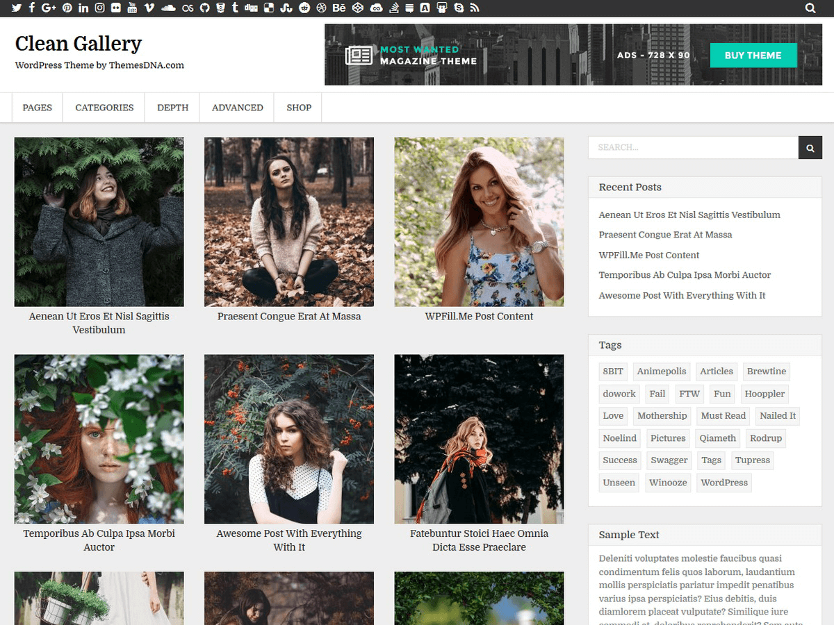 wordpress photo gallery theme