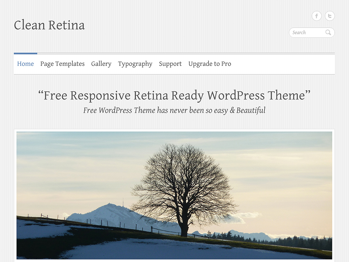 Clean Retina free wordpress theme