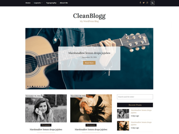 CleanBlogg wordpress theme