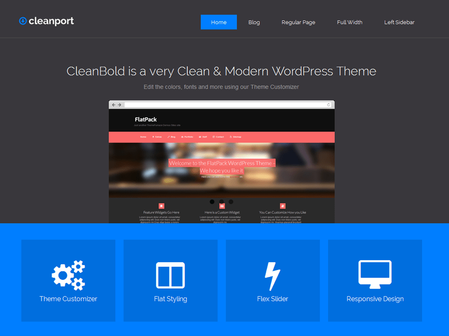 Cleanport Lite wordpress theme
