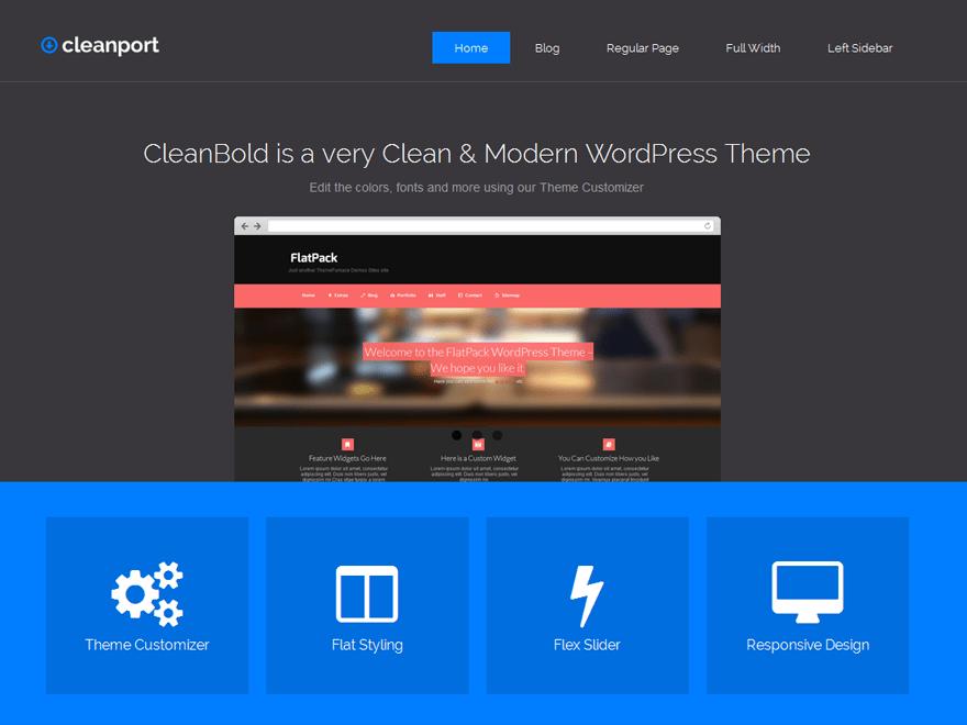 CleanPort-Lite theme wordpress gratuit