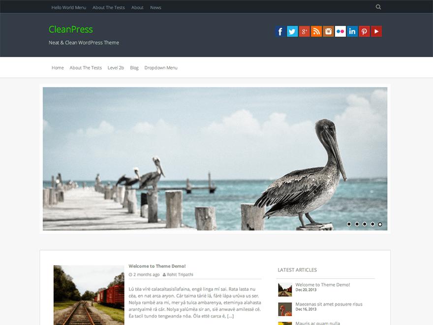 CleanPress free wordpress theme
