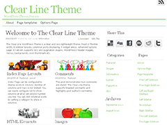 Clear Line free wordpress theme