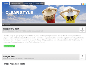 Clear Style wordpress theme