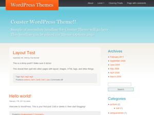 Coaster free wordpress theme
