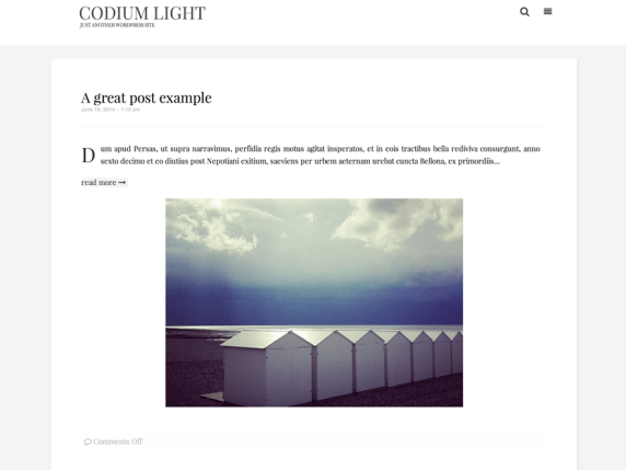 Codium Light wordpress theme
