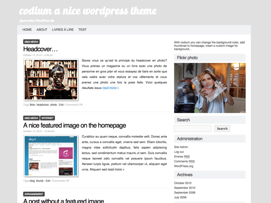 Codium free wordpress theme