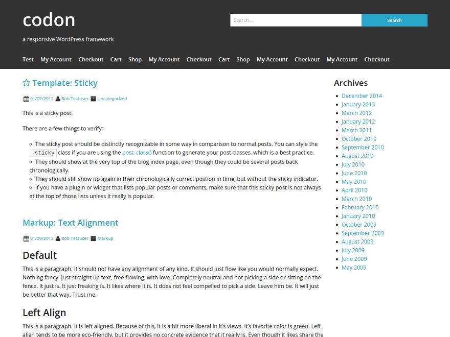 Codon theme wordpress gratuit