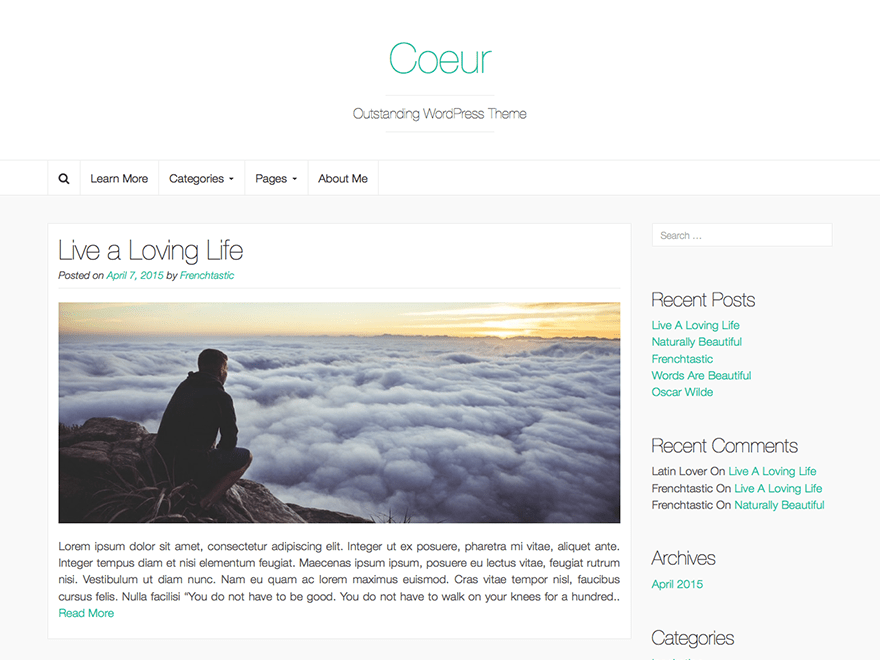 Coeur free wordpress theme