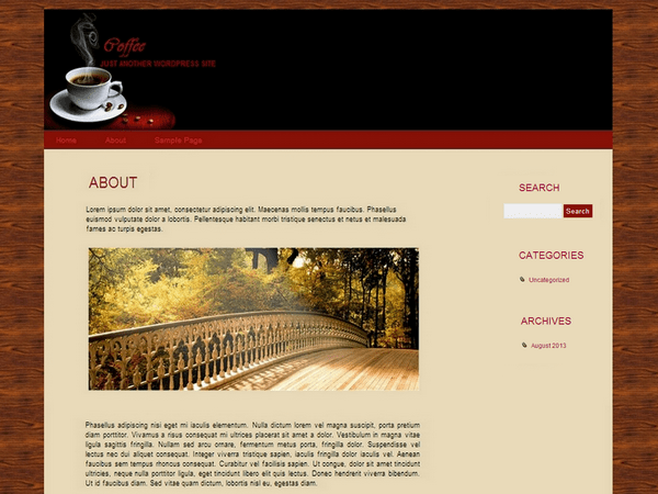Coffee free wordpress theme