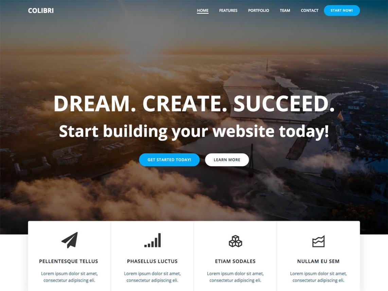 Colibri-free-responsive-popular-WordPress-theme-Yudleethemes
