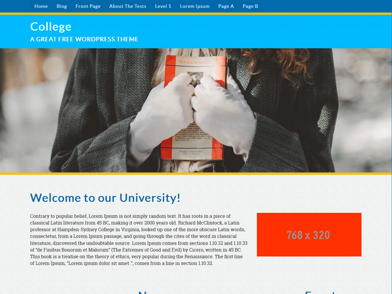 College free wordpress theme
