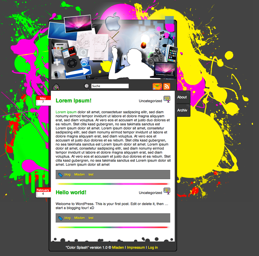 Color Splash free wordpress theme