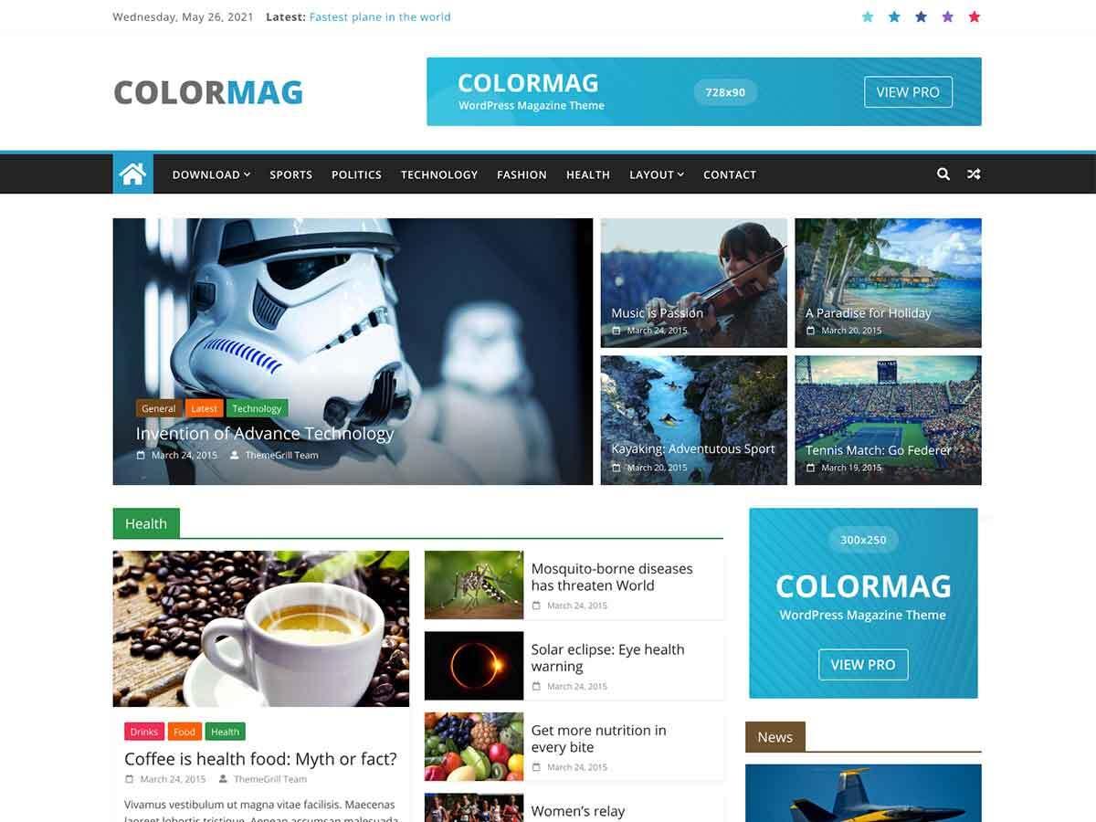 ColorMag News / Magazine Blog WordPress Theme