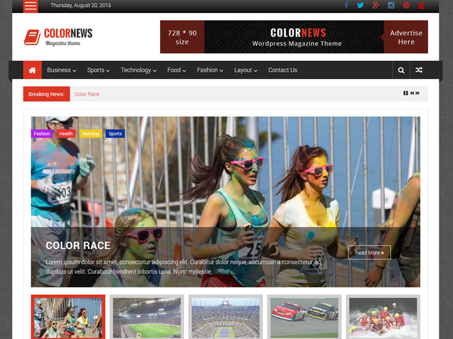 ColorNews free wordpress theme