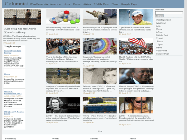 Columnist free wordpress theme
