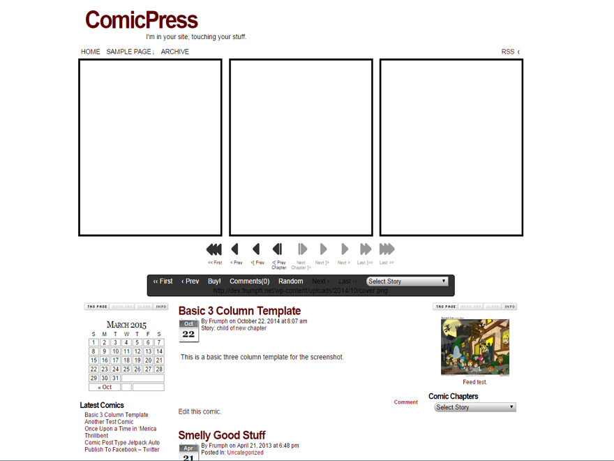 ComicPress free wordpress theme