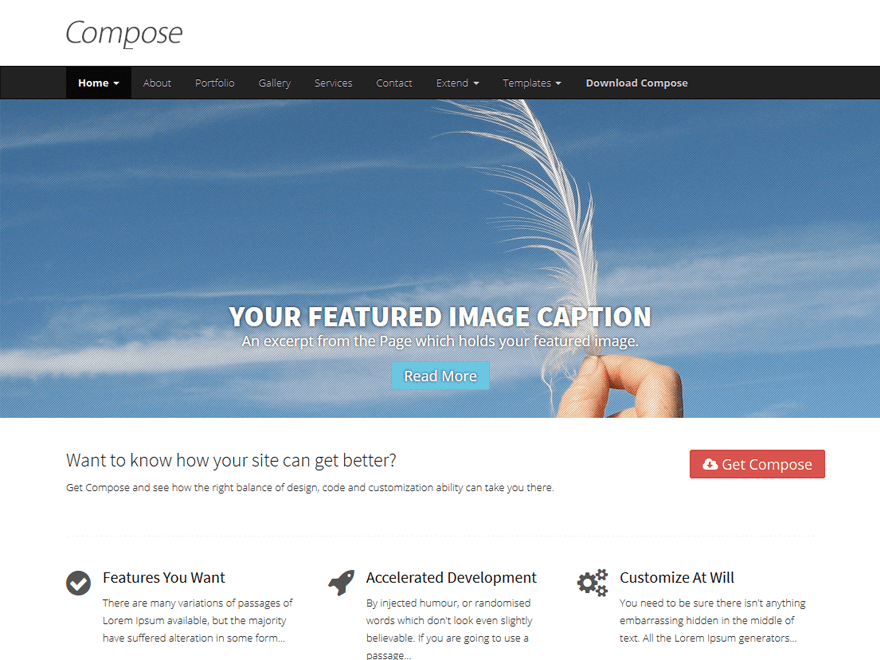 Compose WP free wordpress theme